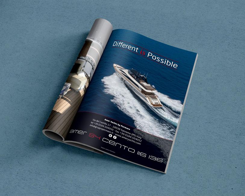 Amer Yacht Permare - Pagina pubblicitaria Amer 94