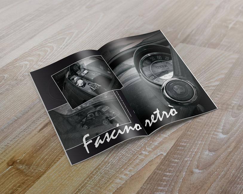 500 Club Italia Garlenda - Pagina pubblicitaria fascino retro