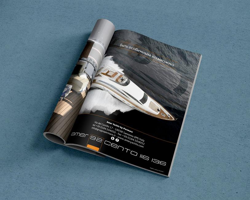 Amer Yacht Permare - Pagina pubblicitaria Amer 92