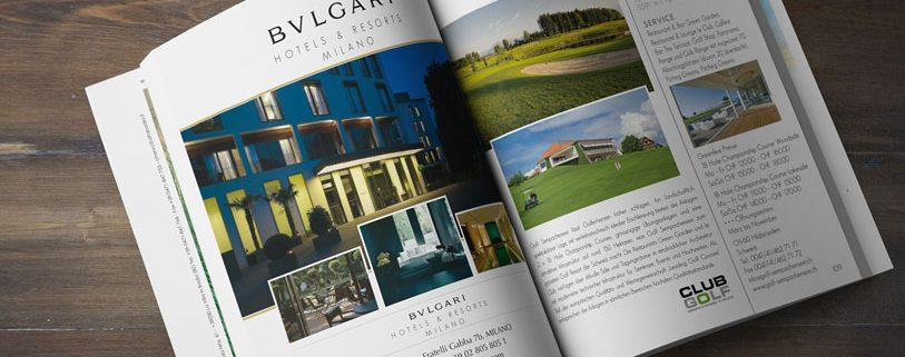 Golf Piacere & Gusto - Rivista - Impaginazione Bulgari